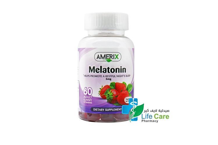 AMERIX MELATONIN 60 PIECES - Life Care Pharmacy