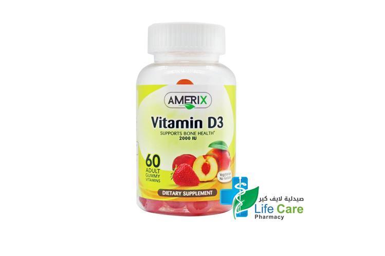 AMERIX VITAMIN D3 2000IU 60 PIECES - Life Care Pharmacy