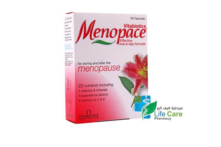 VITABIOTICS MENOPACE 30 CAPSULES - صيدلية لايف كير
