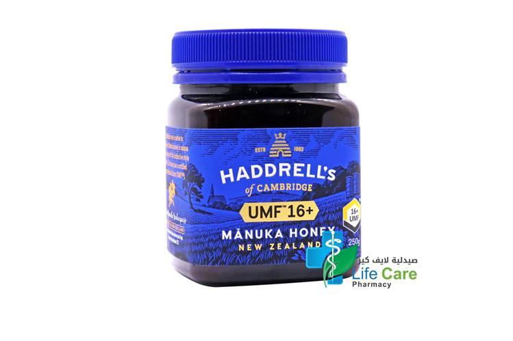 HADDRELLS MANUKA HONEY UMF PLUS 16 250GM - Life Care Pharmacy