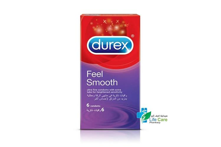 DUREX FEEL SMOOTH 6 CONDOMS - صيدلية لايف كير