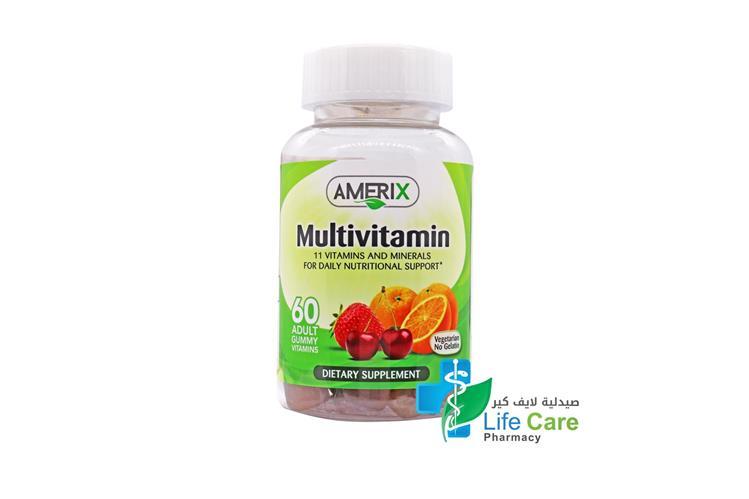 AMERIX MULTIVITAMIN 60 ADULT GUMMY - Life Care Pharmacy