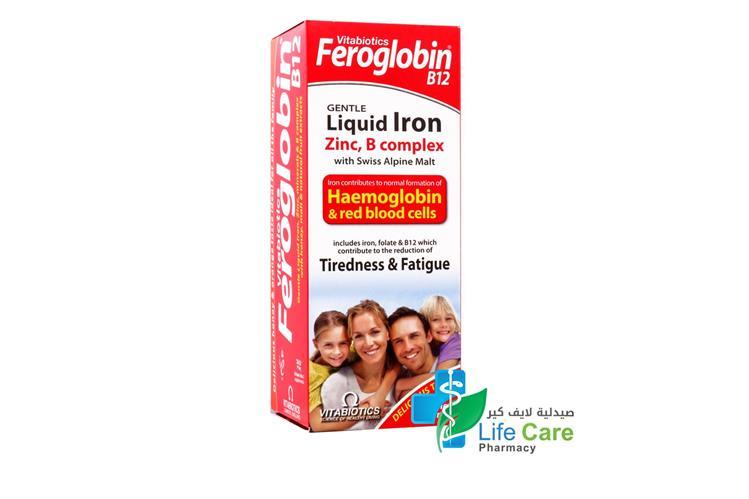 VITABIOTICS FEROGLOBIN B12 LIQUID 200 ML - صيدلية لايف كير