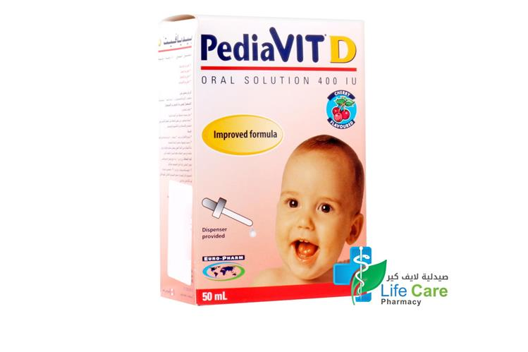 PEDIAVIT D DROPS 50 ML - صيدلية لايف كير