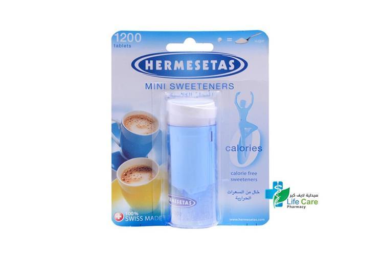 HERMESETAS MINI SWEETENERS SUGAR 1200 TABLETS - صيدلية لايف كير