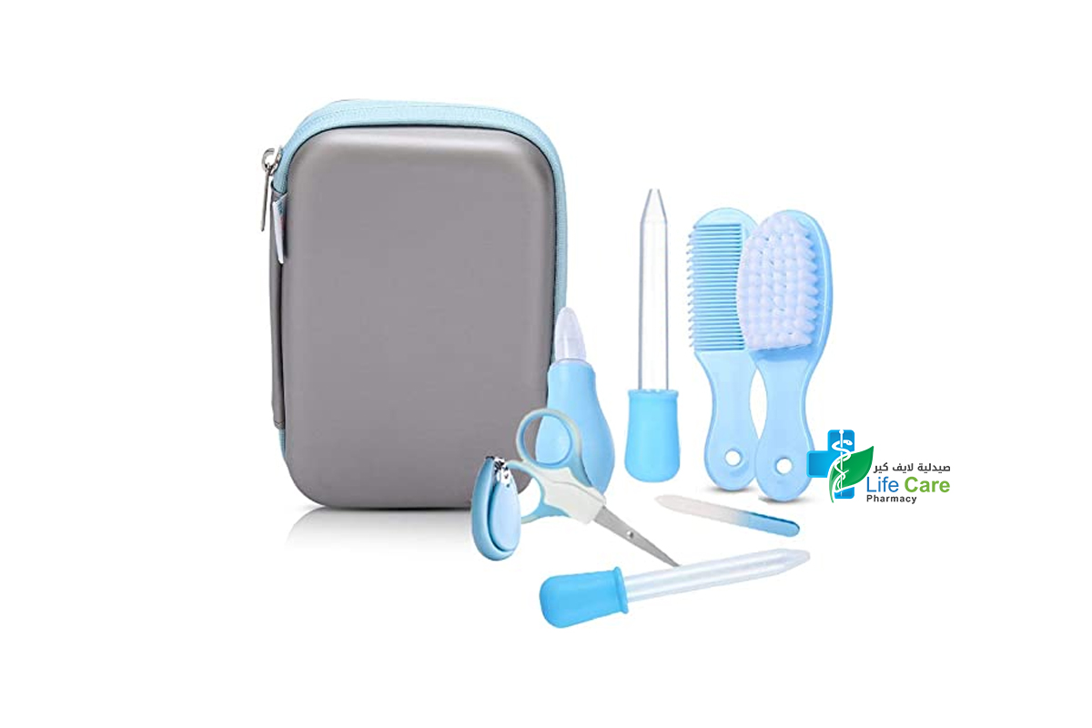 PRITTY BABY GROOMING KIT BLUE 8 PIECES - صيدلية لايف كير