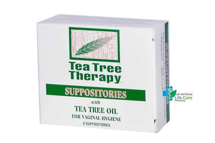 TEA TREE VAGINAL 6 SUPPOSITORIES - صيدلية لايف كير