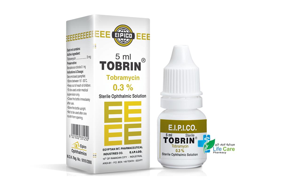 TOBRIN EYE DROS .03%  5 ML - صيدلية لايف كير