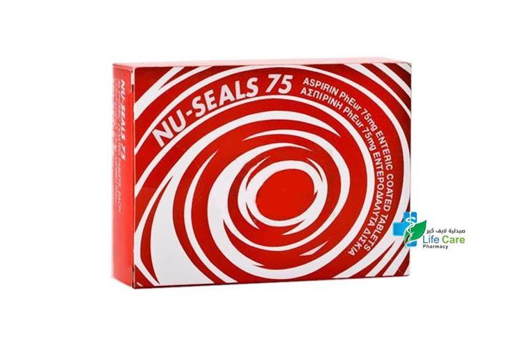 NU SEALS 75 EC 56 TABLETS - صيدلية لايف كير