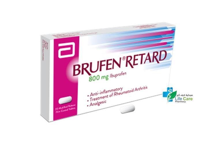 BRUFEN 800 RETARD 20 TAB - صيدلية لايف كير