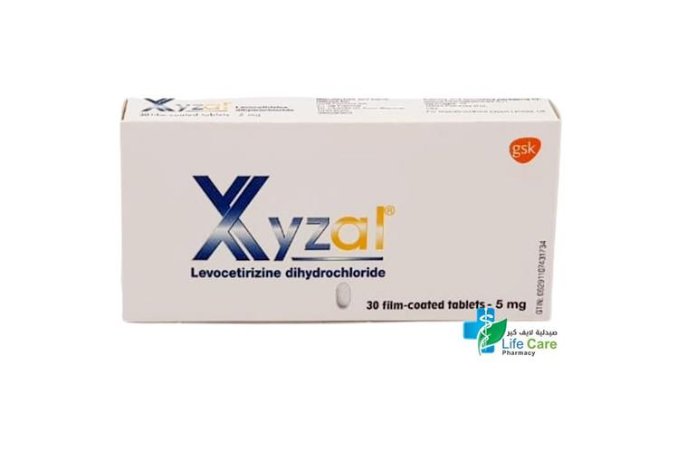 XYZAL 5MG 30TAB - صيدلية لايف كير