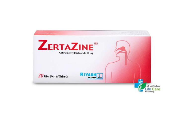 ZERTAZINE 10MG 20TAB - صيدلية لايف كير