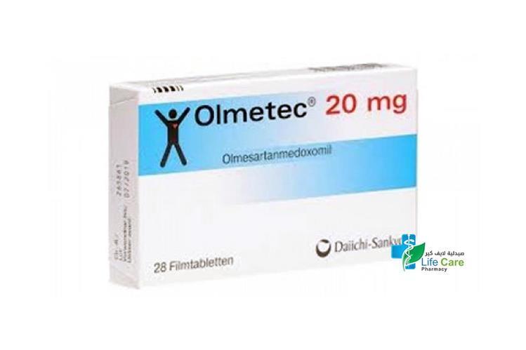 OLMETEC 20 MG 28 TABLETS - صيدلية لايف كير