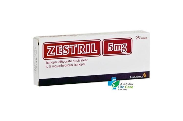ZESTRIL 5 MG 28 TABLETS - صيدلية لايف كير