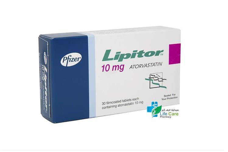 LIPITOR 10 MG 30 TABLETS - Life Care Pharmacy