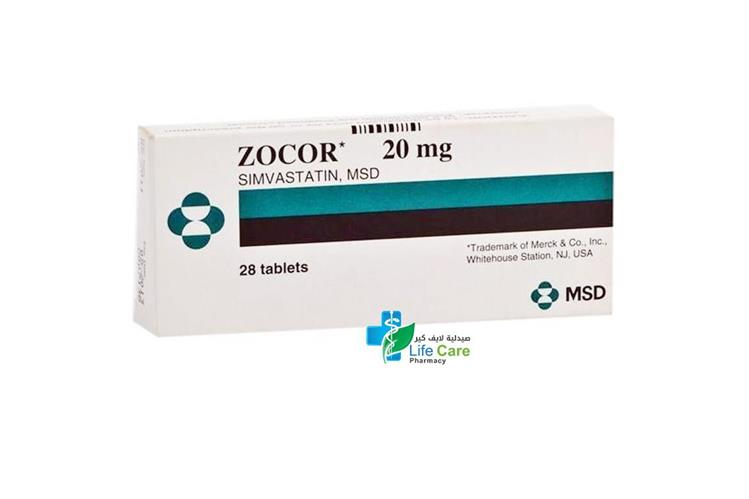 ZOCOR 20MG 28 TAB - Life Care Pharmacy