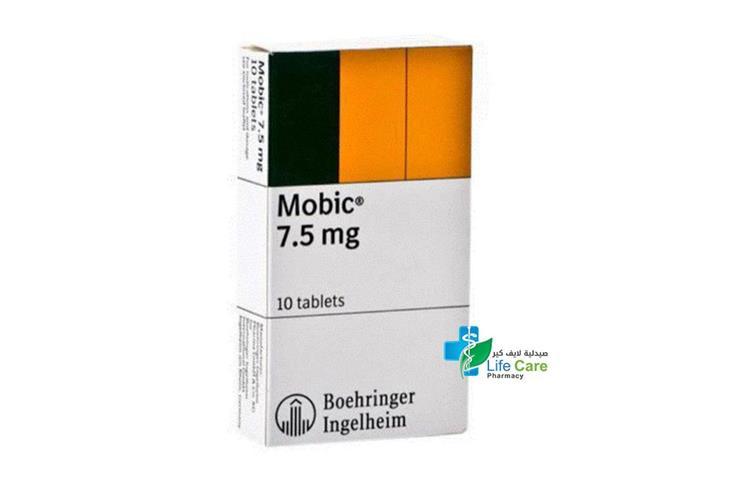 MOBIC  7.5MG 10 TAB - صيدلية لايف كير