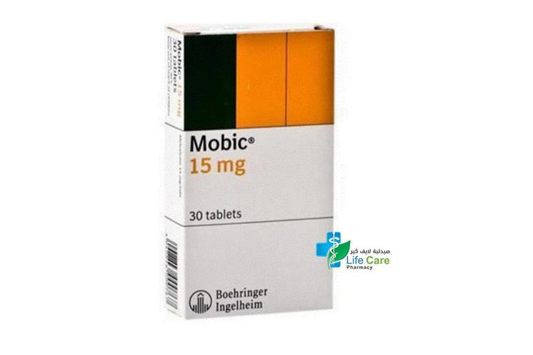MOBIC TABLETS 15MG 30 TAB - صيدلية لايف كير